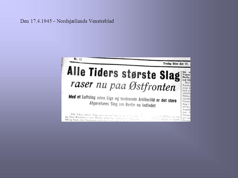 Den 17.4.1945 – Nordsjællands Venstreblad