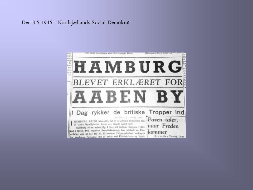 Den 3.5.1945 – Nordsjællands Social-Demokrat