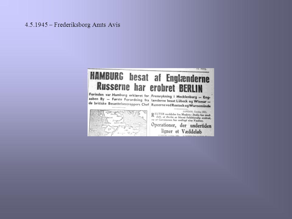 4.5.1945 – Frederiksborg Amts Avis