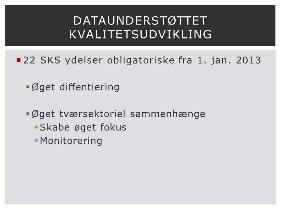  22 SKS ydelser obligatoriske fra 1. jan.