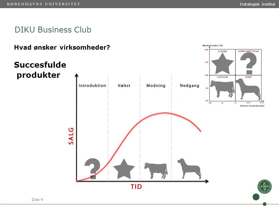 Dias 4 Datalogisk Institut DIKU Business Club Hvad ønsker virksomheder Succesfulde produkter