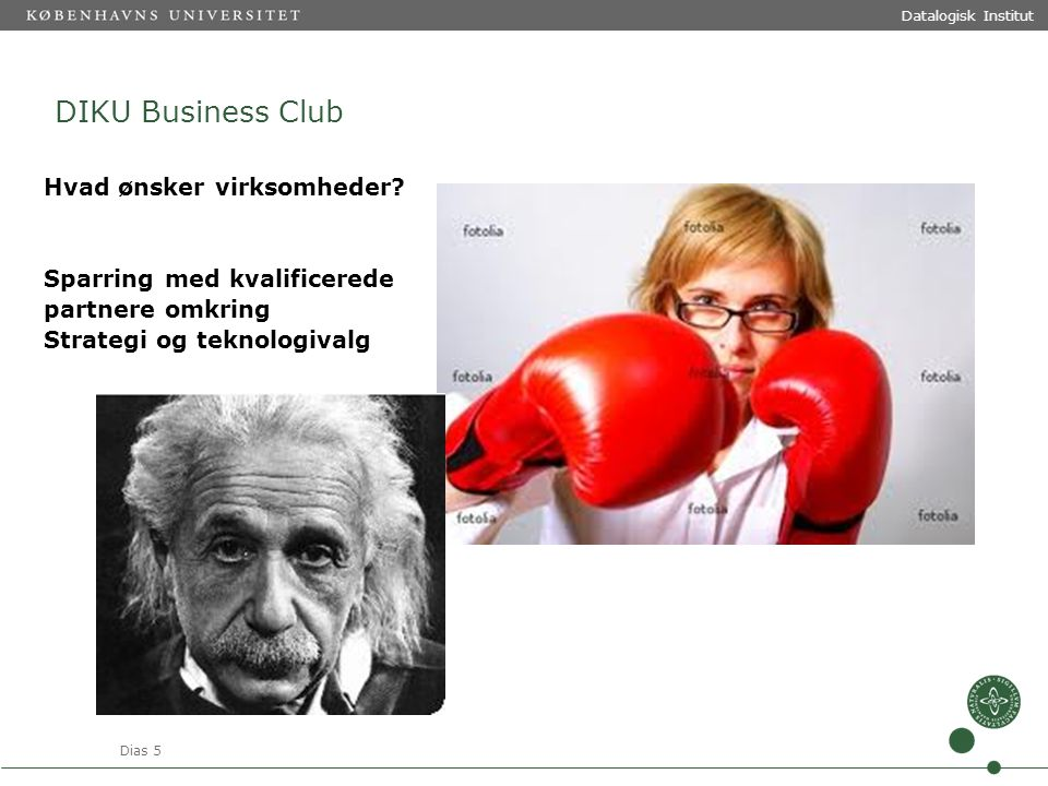 Dias 5 Datalogisk Institut DIKU Business Club Hvad ønsker virksomheder.