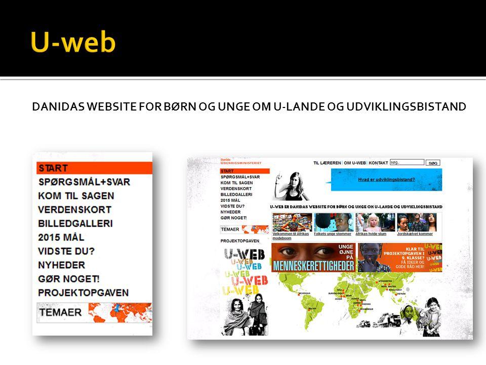 DANIDAS WEBSITE FOR BØRN OG UNGE OM U-LANDE OG UDVIKLINGSBISTAND