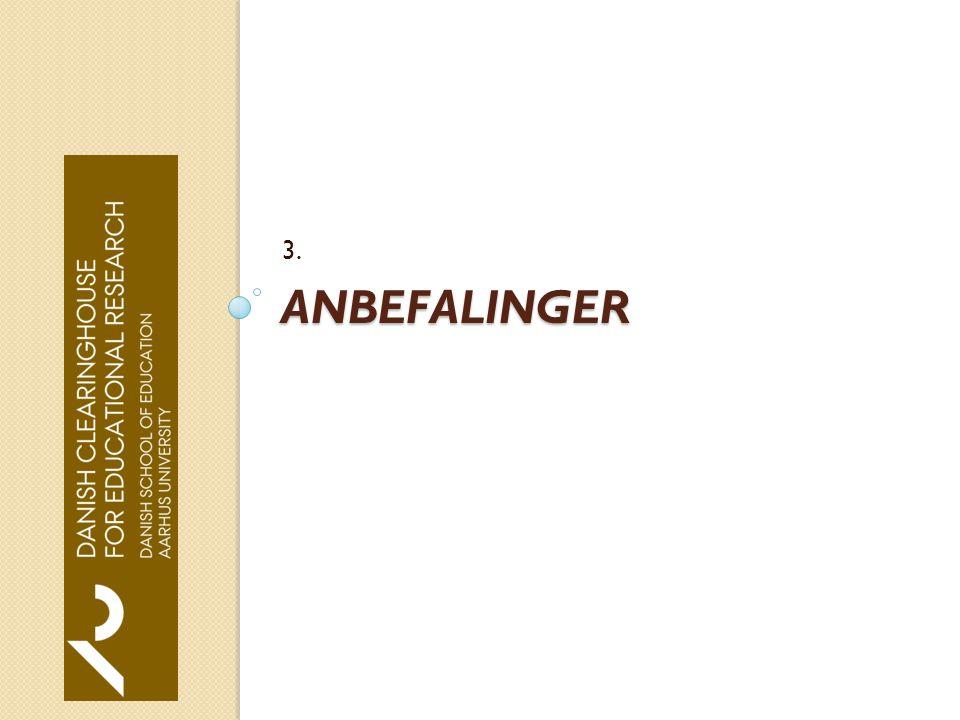 ANBEFALINGER 3.