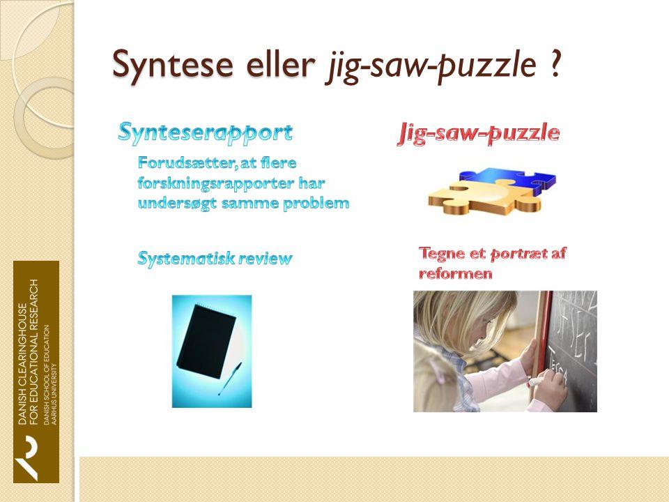 Syntese eller Syntese eller jig-saw-puzzle
