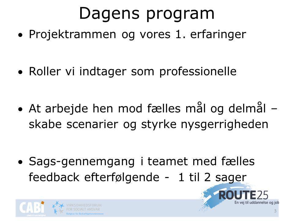 Dagens program 3 Projektrammen og vores 1.
