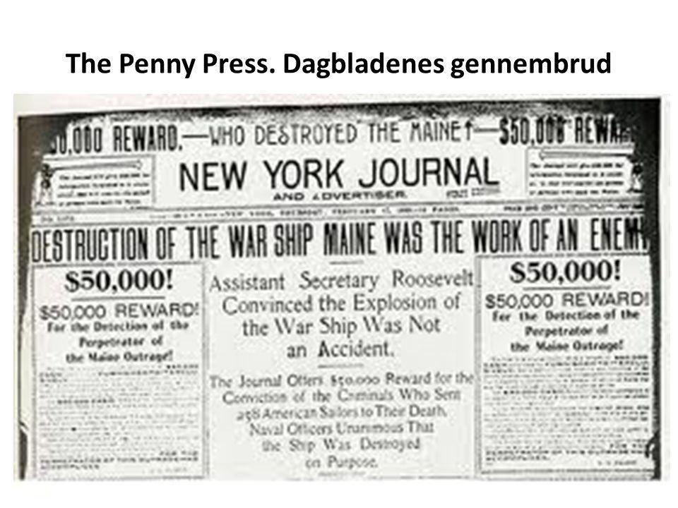 The Penny Press. Dagbladenes gennembrud