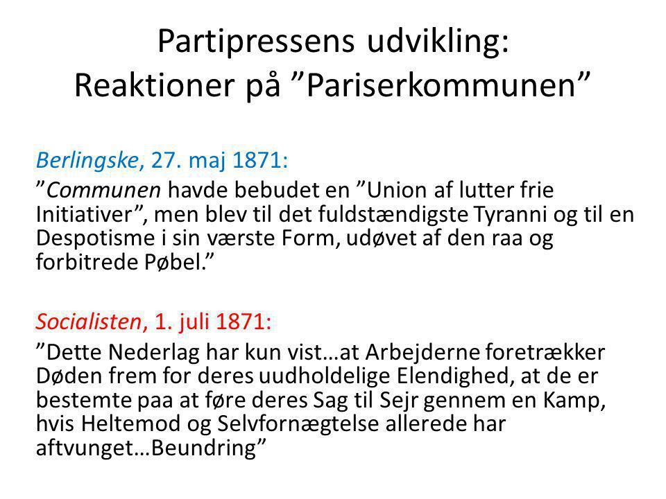Partipressens udvikling: Reaktioner på Pariserkommunen Berlingske, 27.