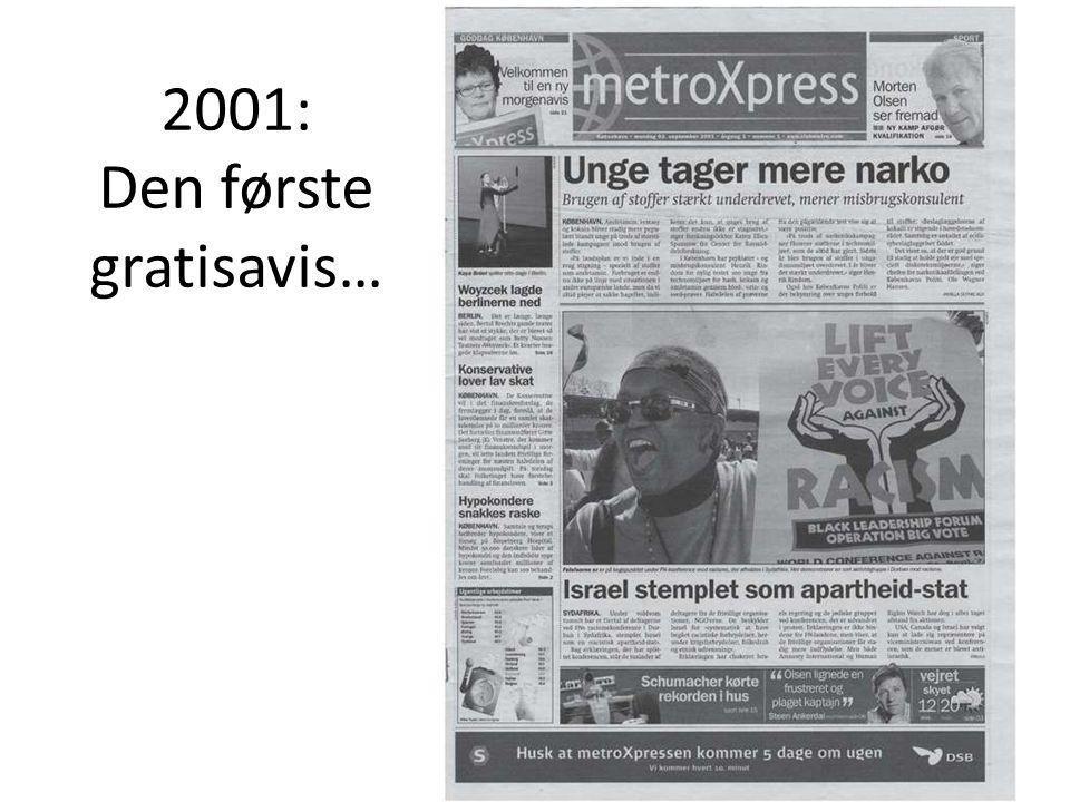 2001: Den første gratisavis…