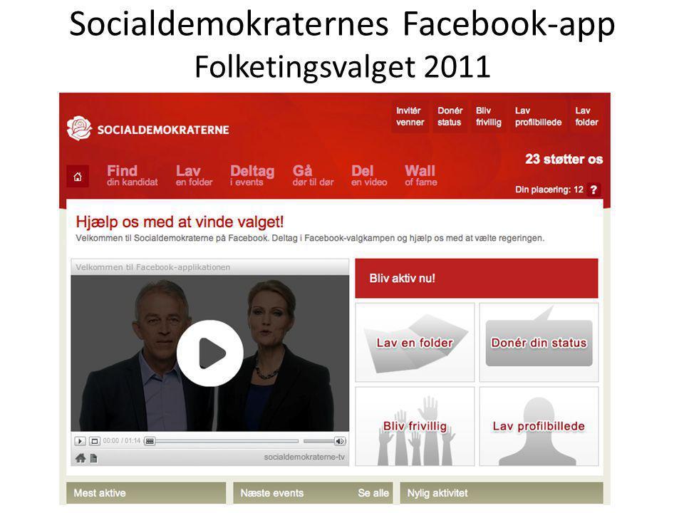 Socialdemokraternes Facebook-app Folketingsvalget 2011