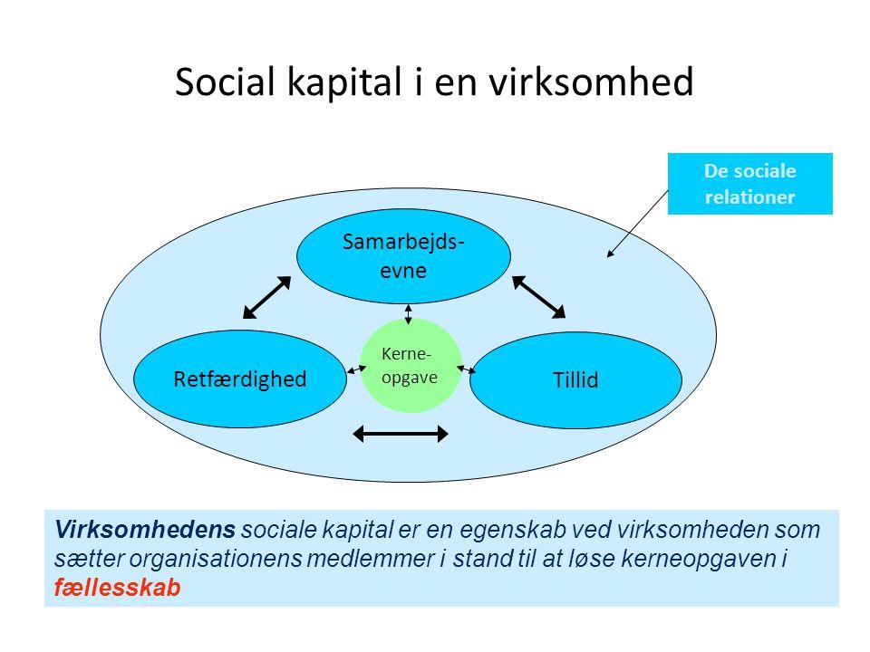 4 Kerneopgaven – det er den, det handler om Fælles opgaveløsning styrker relationer Relationer skaber bedre opgaveløsning Tillid, retfærdighed og samarbejdsevne befordrer processen Social kapital styrkes
