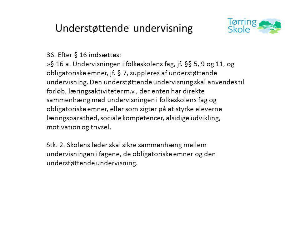 Understøttende undervisning 36. Efter § 16 indsættes: »§ 16 a.