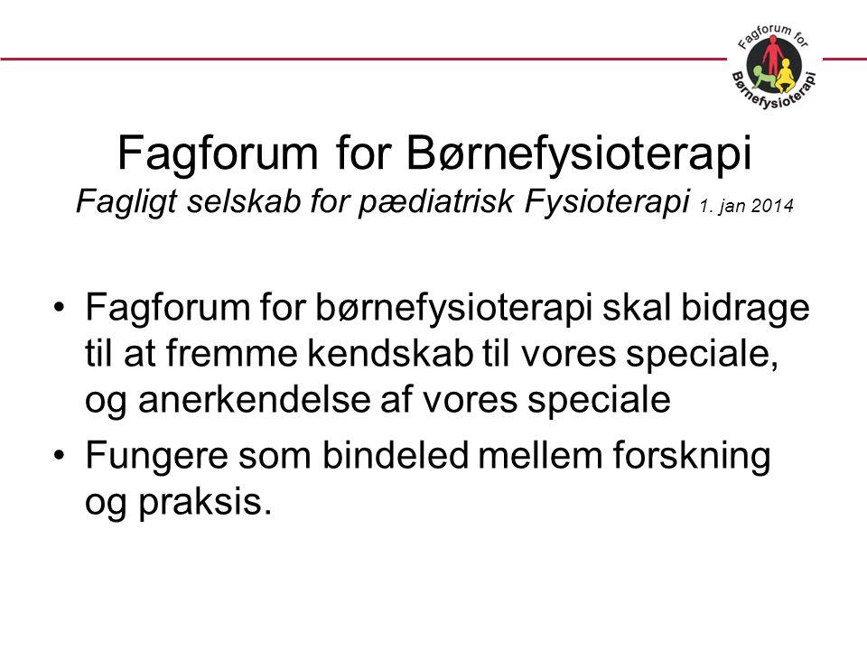 Fagforum for Børnefysioterapi Fagligt selskab for pædiatrisk Fysioterapi 1.