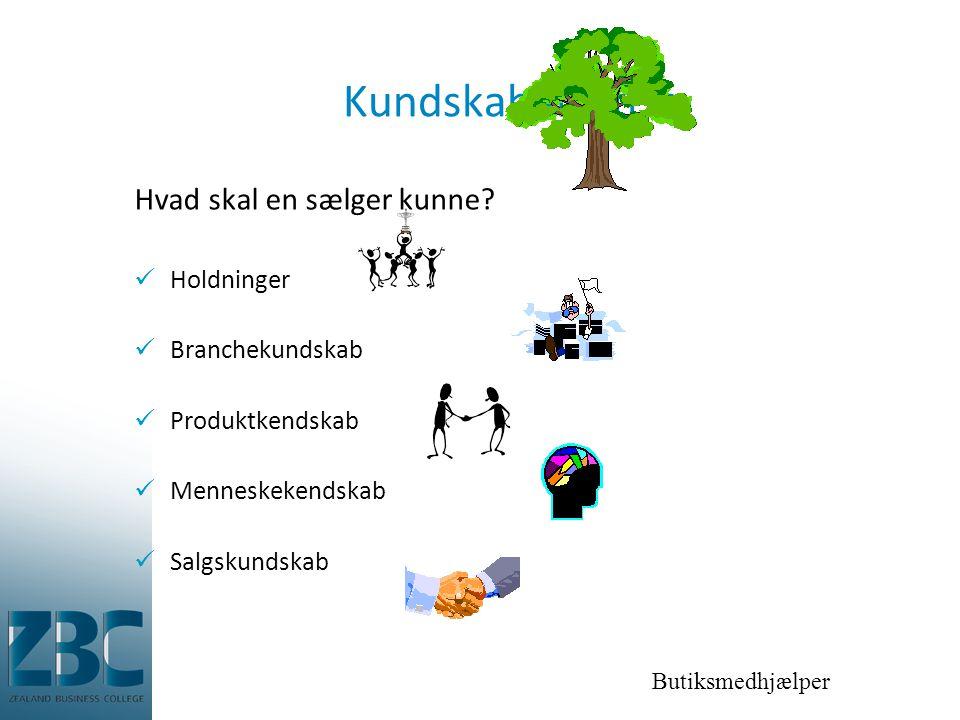 Butiksmedhjælper Kundskabens træ Hvad skal en sælger kunne.