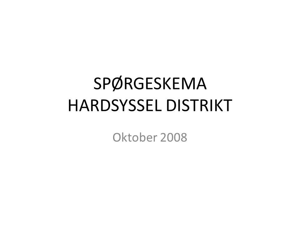 SPØRGESKEMA HARDSYSSEL DISTRIKT Oktober 2008