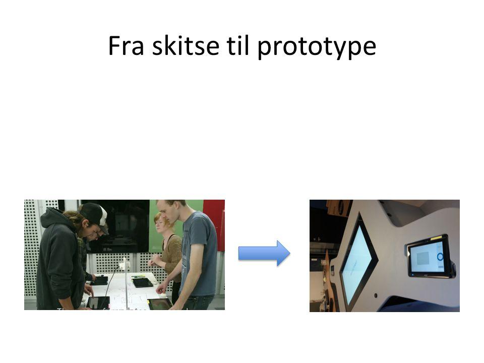 Fra skitse til prototype