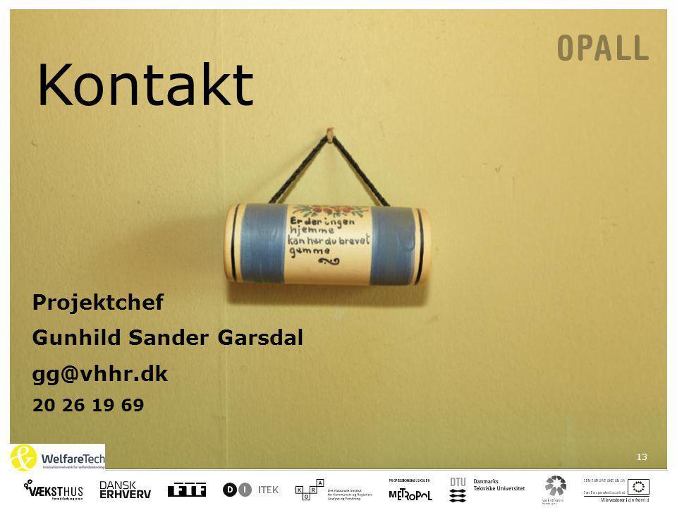 13 Kontakt Projektchef Gunhild Sander Garsdal gg@vhhr.dk 20 26 19 69