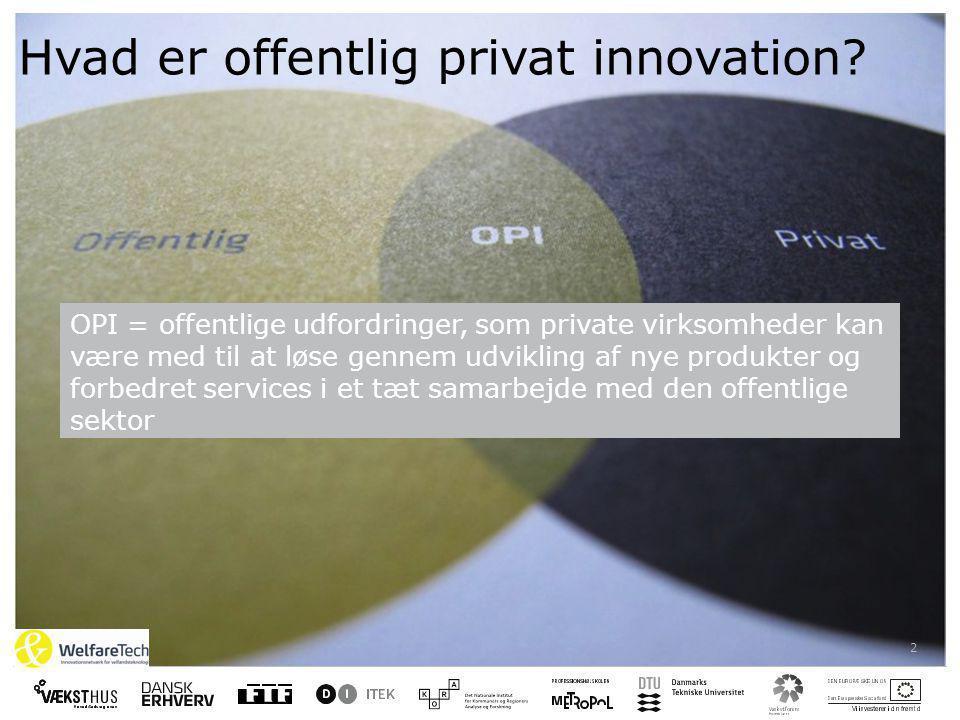 2 Hvad er offentlig privat innovation.