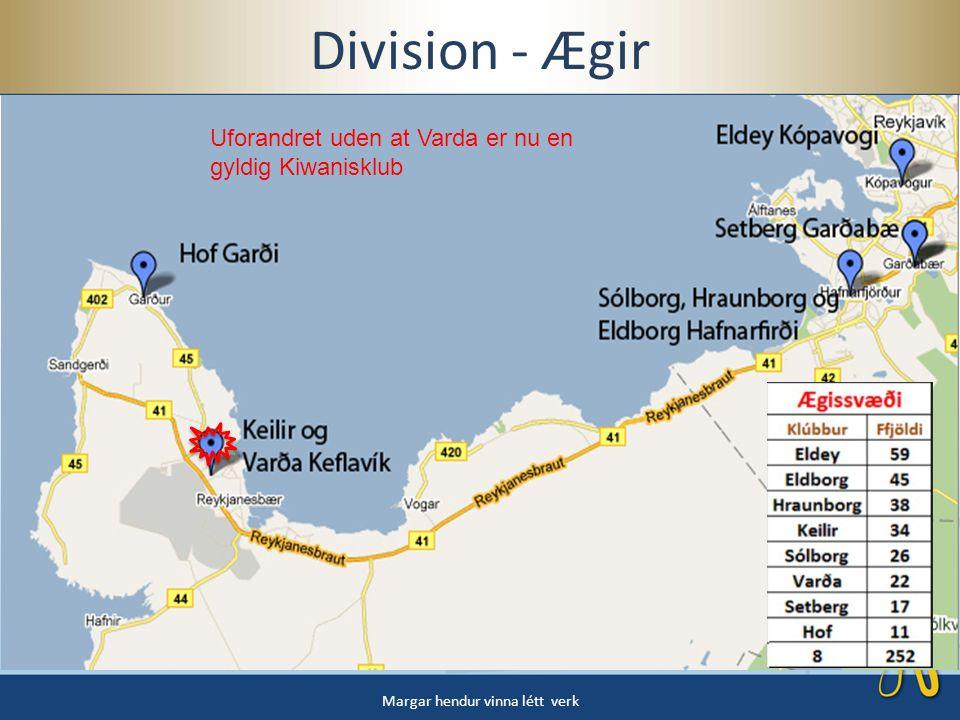 Division - Ægir Margar hendur vinna létt verk Uforandret uden at Varda er nu en gyldig Kiwanisklub