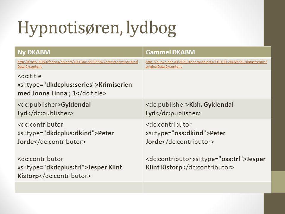 Hypnotisøren, lydbog Ny DKABMGammel DKABM http://frosty:8080/fedora/objects/100100:28096682/datastreams/original Data.0/content http://nuovo.dbc.dk:8080/fedora/objects/710100:28096682/datastreams/ originalData.0/content Krimiserien med Joona Linna ; 1 Gyldendal Lyd Kbh.