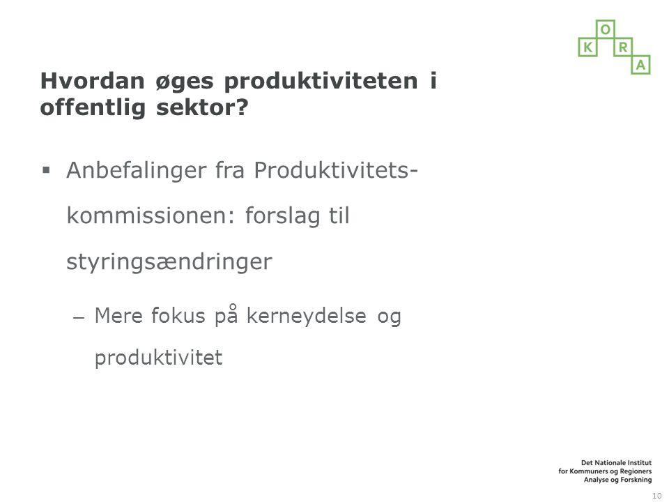 Hvordan øges produktiviteten i offentlig sektor.