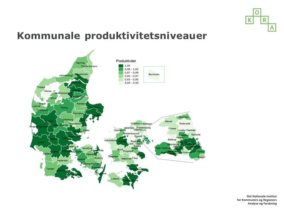 Kommunale produktivitetsniveauer
