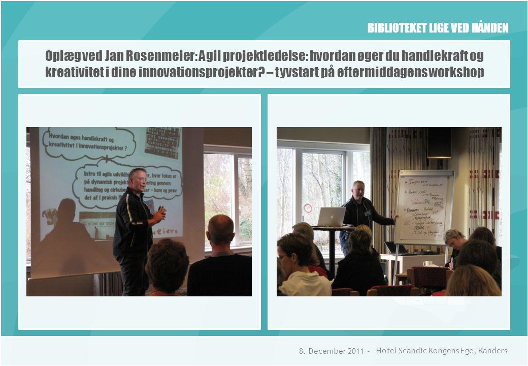 BIBLIOTEKET LIGE VED HÅNDEN Oplæg ved Jan Rosenmeier: Agil projektledelse: hvordan øger du handlekraft og kreativitet i dine innovationsprojekter.