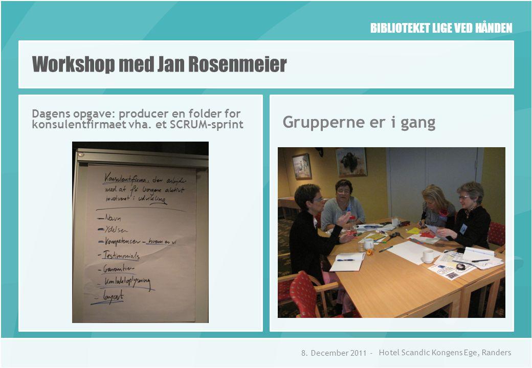 BIBLIOTEKET LIGE VED HÅNDEN Dagens opgave: producer en folder for konsulentfirmaet vha.