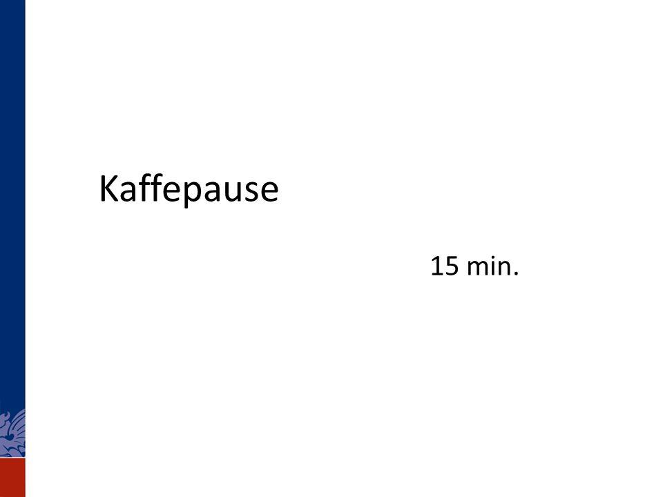 Kaffepause 15 min.