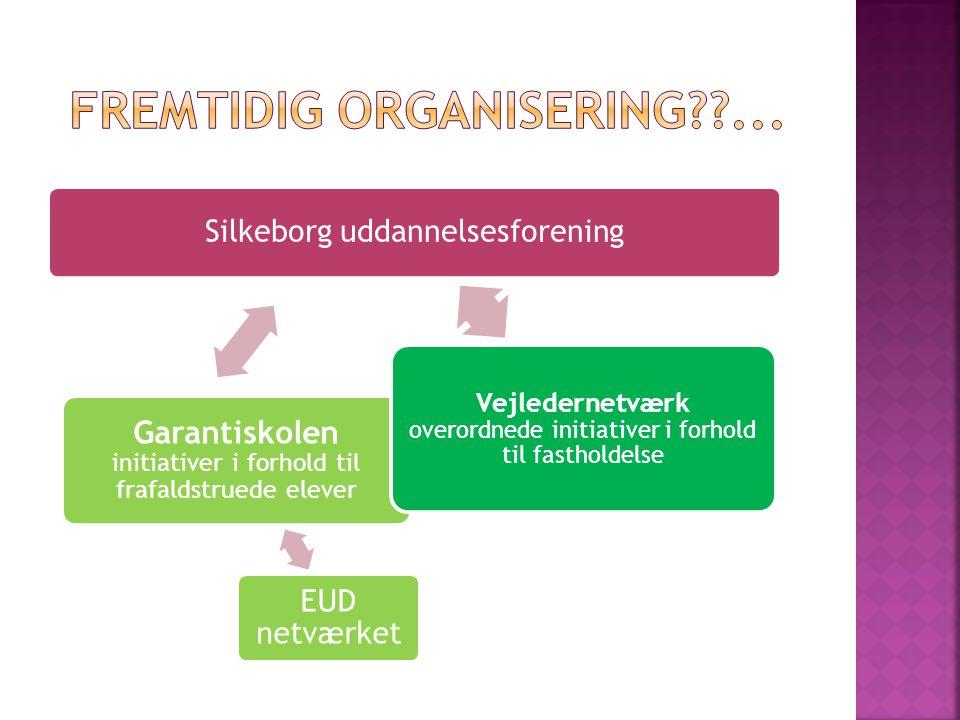 Silkeborg uddannelsesforening Garantiskolen initiativer i forhold til frafaldstruede elever EUD netværket Vejledernetværk overordnede initiativer i forhold til fastholdelse