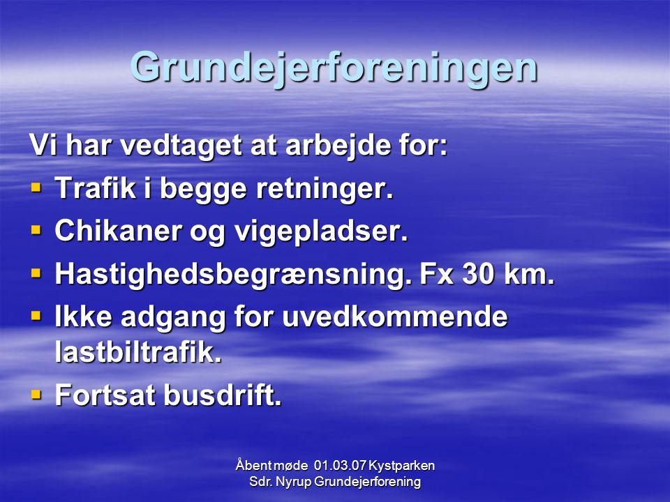 Åbent møde 01.03.07 Kystparken Sdr.