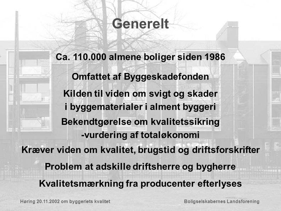 Generelt Ca.