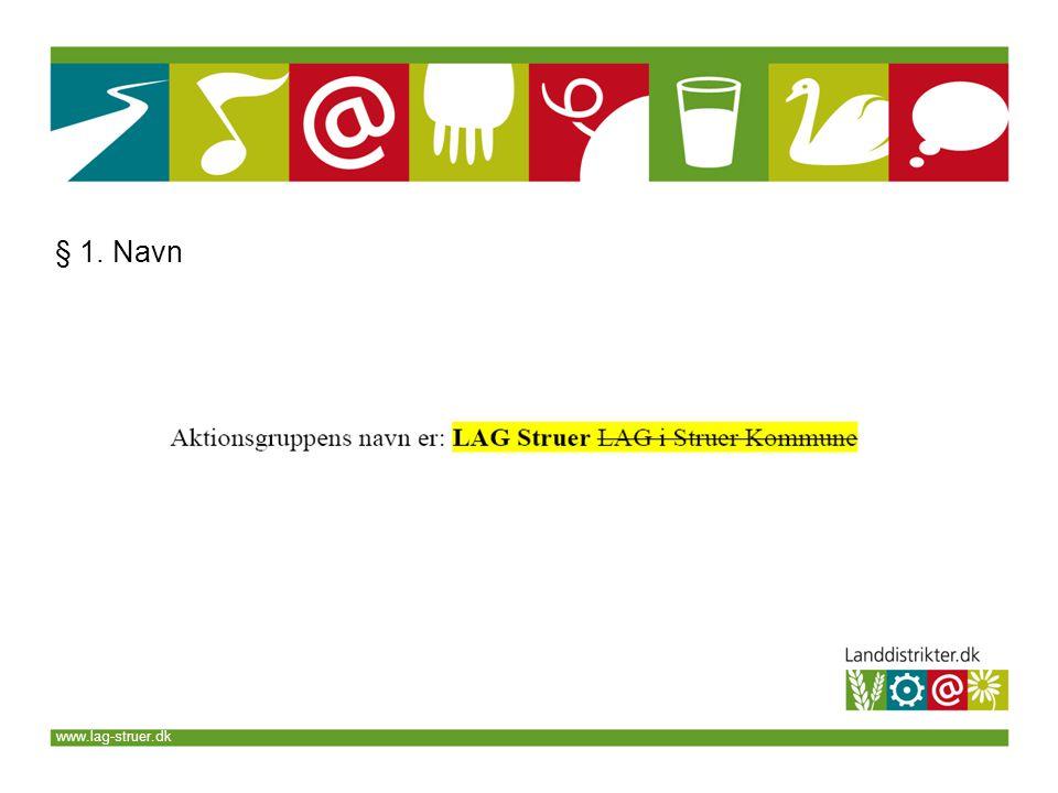 www.lag-struer.dk § 1. Navn