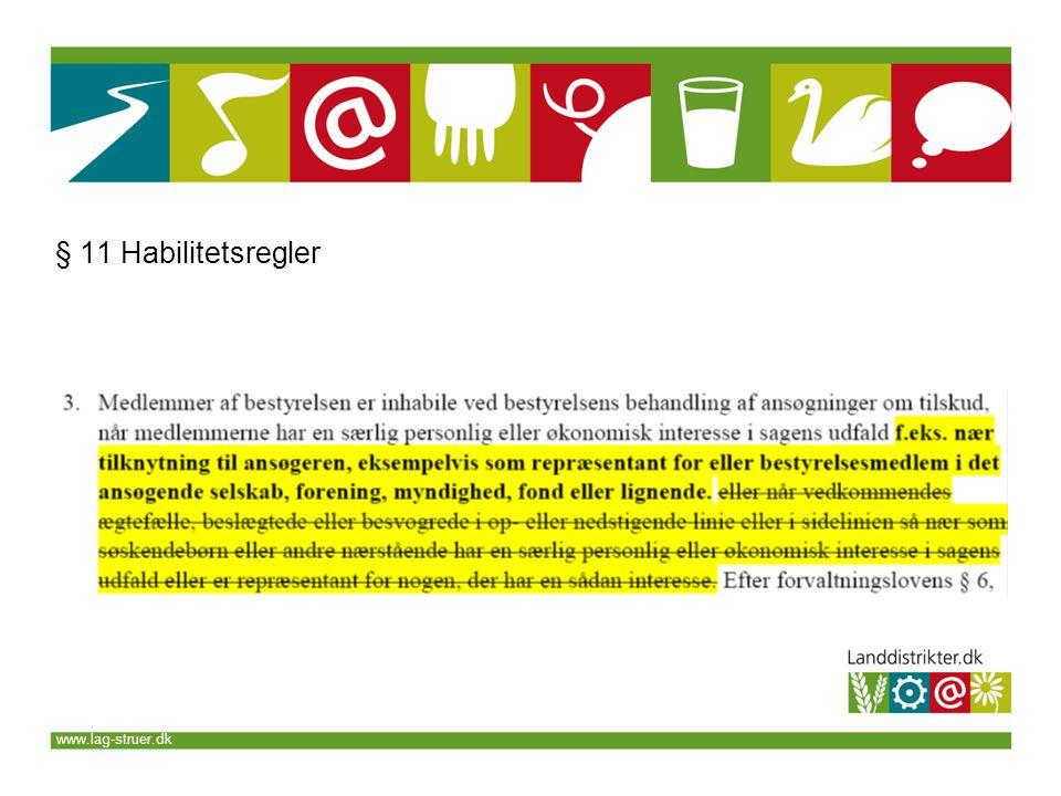 www.lag-struer.dk § 11 Habilitetsregler