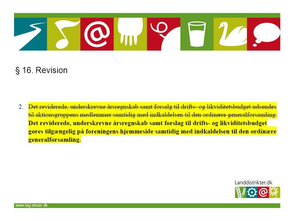 www.lag-struer.dk § 16. Revision