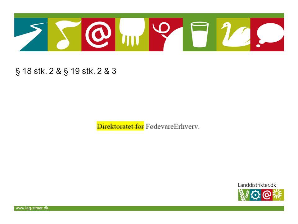 www.lag-struer.dk § 18 stk. 2 & § 19 stk. 2 & 3