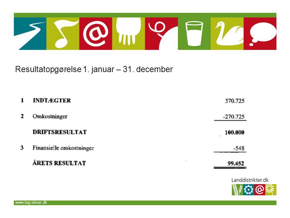 www.lag-struer.dk Resultatopgørelse 1. januar – 31. december