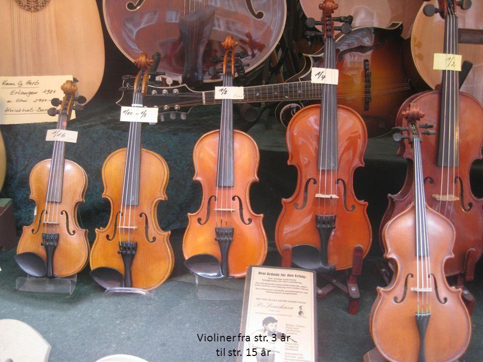 Violiner fra str. 3 år til str. 15 år