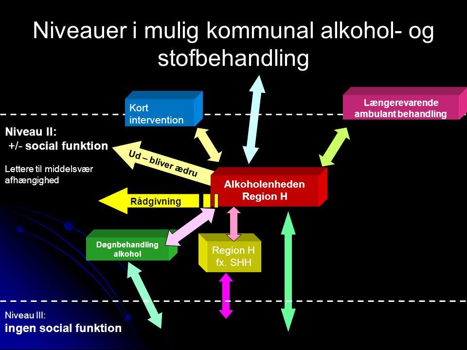 Ud – bliver ædru Alkoholenheden Region H Døgnbehandling alkohol Region H fx.