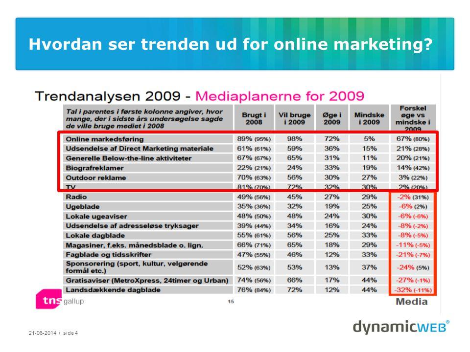 Hvordan ser trenden ud for online marketing 21-06-2014 / side 4