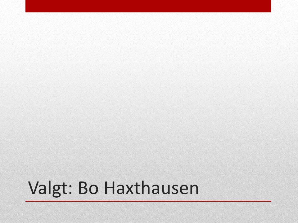 Valgt: Bo Haxthausen