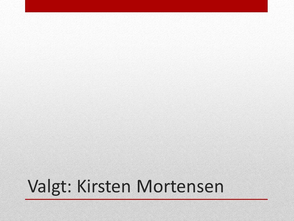 Valgt: Kirsten Mortensen