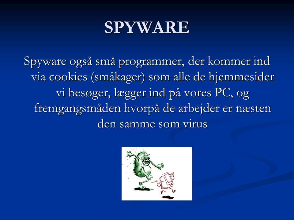 VIRUS Virus er små programmer der sniger sig ind med vores mails som vedhæftede filer, og så snart vi åbner sådan en fil, installerer programmet sig, inficerer vores PC, forstyrrer os i vores arbejde på vores PC på mange ubehagelig måder, sender sig selv videre i de mails vi sender og i værste fald bryder vores PC sammen.