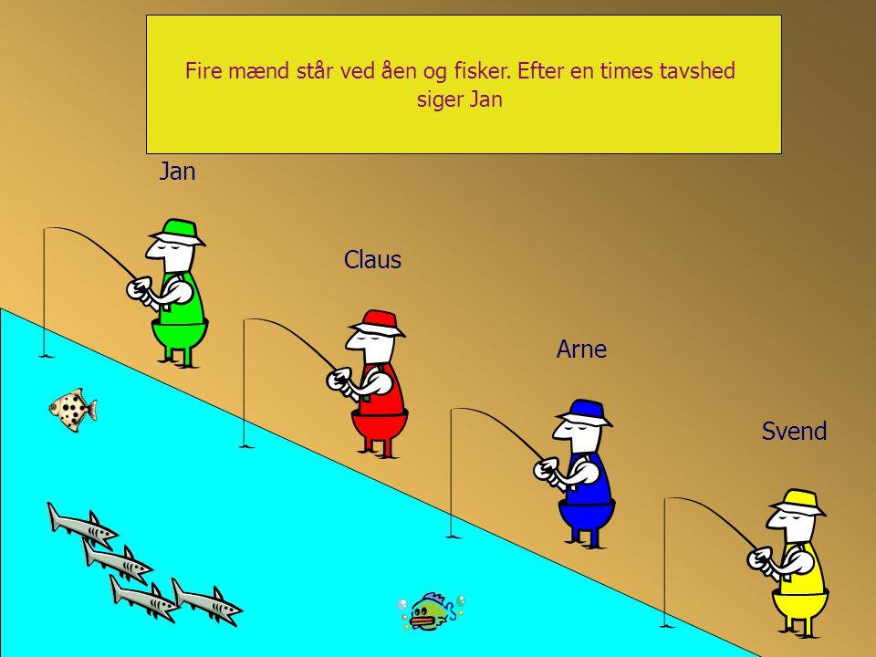 Vier gehuwde mannen staan te vissen.