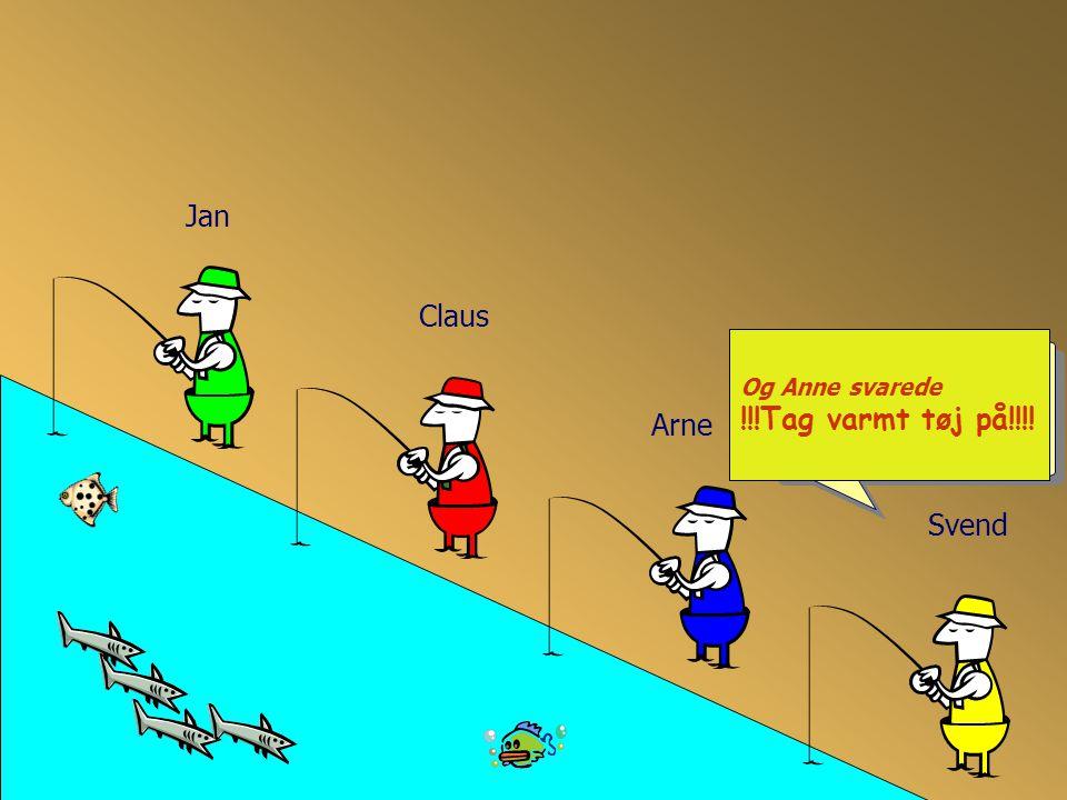 Jan Og Anne svarede !!!Tag varmt tøj på!!!! Claus Arne Svend