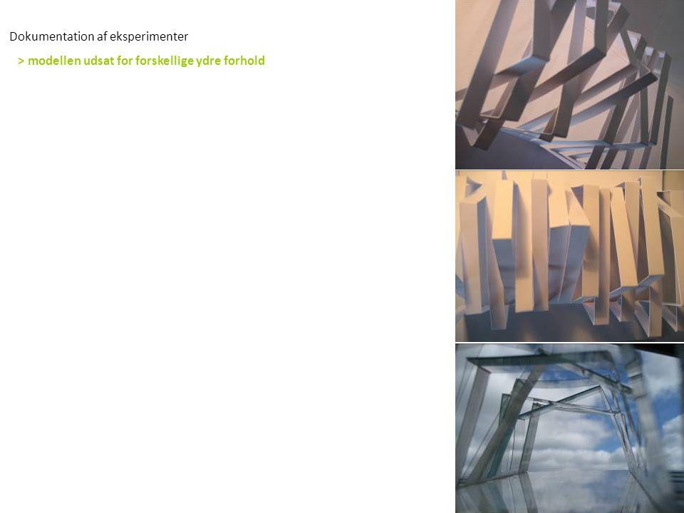 Dokumentation af eksperimenter > modellen udsat for forskellige ydre forhold
