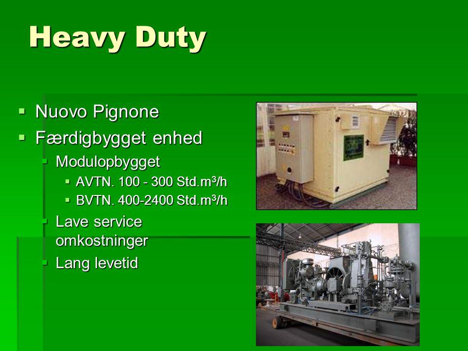 Heavy Duty  Nuovo Pignone  Færdigbygget enhed  Modulopbygget  AVTN.