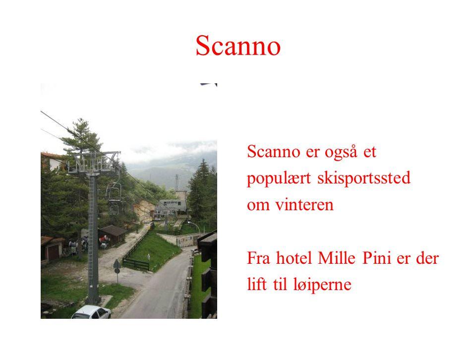 Scanno Scanno er også et populært skisportssted om vinteren Fra hotel Mille Pini er der lift til løiperne