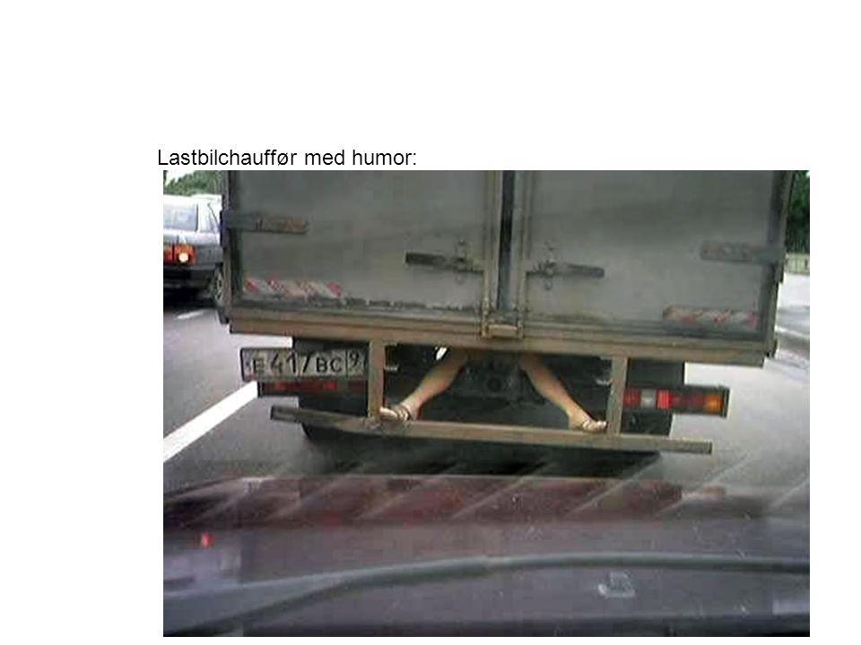 Lastbilchauffør med humor: