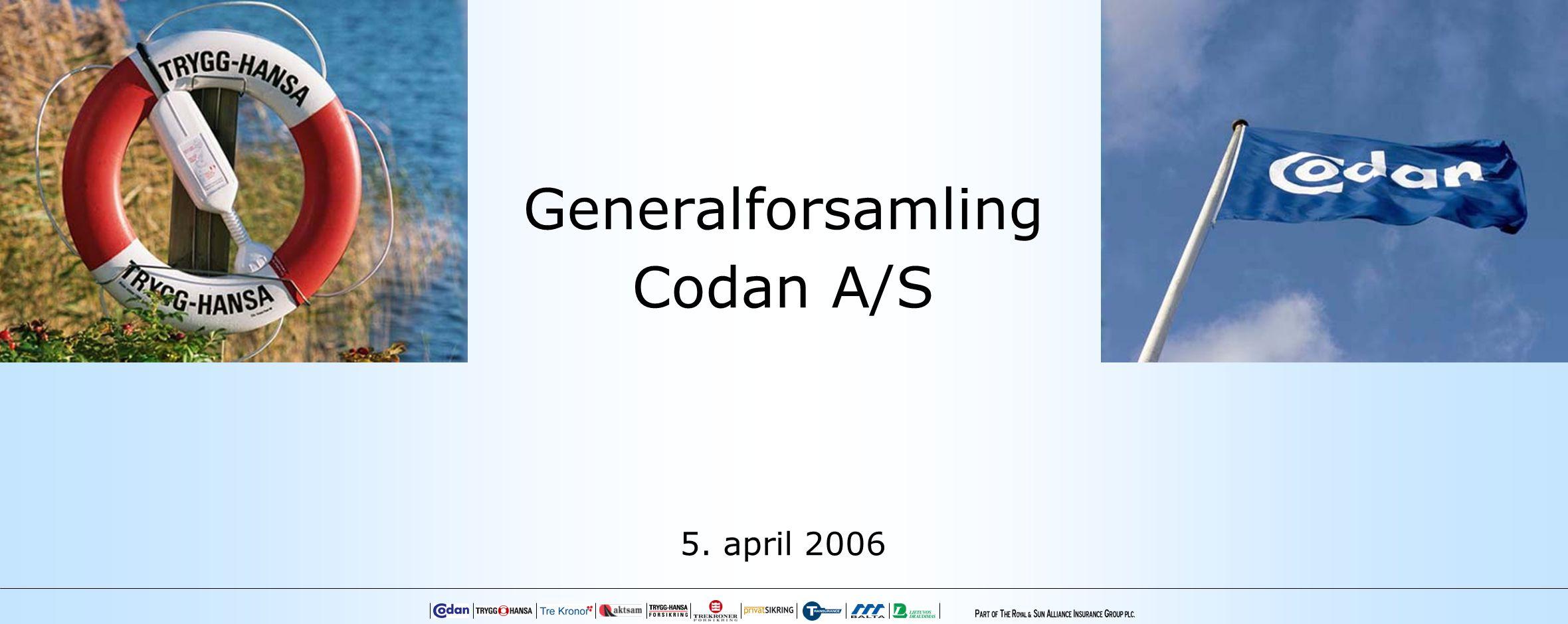 Generalforsamling Codan A/S 5. april 2006